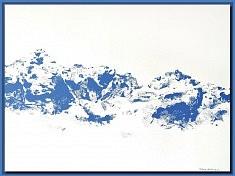 Bleu 1 - acrylique sur toile 58 x 77 cm