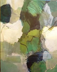 """2018 Série """"fleurs-paysage1"""" peinture sur toile, 81x65 cm"""