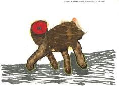 La mère de Bambi 03 - aimait à gambader en la forêt - Café, calque et gouache sur papier - 42x30 - 2018