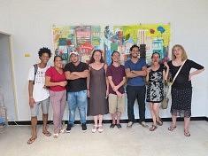 Artistes lors du vernissage à l'espacio Altamira