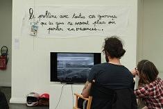 Installation vidéo d'Emilie Moutsis, photo Katelia
