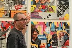 Alain Cabot présente son travail, photo Katelia
