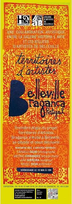 Belleville-Bragança (mai 2016), affiche orange par Paola Afonso