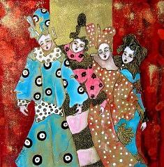 Mariane Mazel, Les demoiselles en bleu et rose