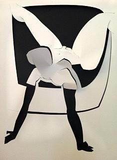 Jean Charles Yaïch, papier découpé