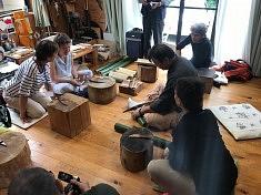 Découverte du travail du bambou, photo Kanako Akiyama