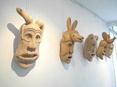 Belleville-Bragança (mai 2016), masques d'Antonio Fernandes (Ph. Loïs Pommier)