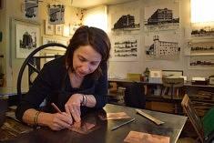(Français) Dans l'atelier de Caroline Bouyer (photo Noémie Brancard)