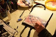 (Français) Dans l'atelier de Marcus McAllister (photo Noémie Brancard)