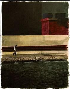 Canal, acrylique sur toile, 81cm x 65cm