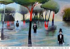(Français) M.C. Wild, Le temps, 146x96 cm, acrylique sur toile, 2017