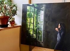 Dans l'atelier de Patricia Maïocco, photo Claire Hoffmann, 1er prix du Concours Photo