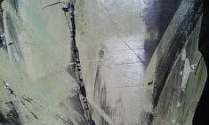 Josette Vigneau, Dans Les Bois, encre sur papier, 60 x 80 cm