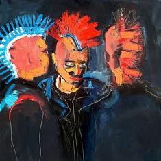 Juan Diego Vergara, Soirée Le Klub, Huile sur Toile, 100 x 100 cm