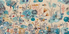 Annalisa Bollini, Oceano (broderie, collage et acrylique, 42 x 32 cm)