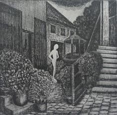 Frédéric Laviéville, Jardins secrets 2, Eau forte, 15 x 15 cm