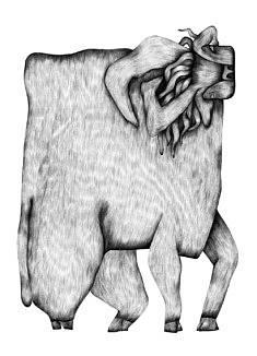 Nadia Zhelieznova, Bull (Graphite 29,7, 42 cm)