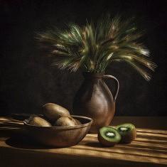 Paule Riffault, Epillets Kiwis, photo 30 x 30 cm