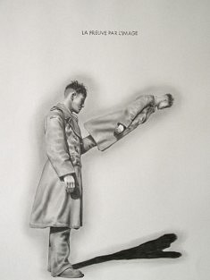 Yves Helbert, La preuve par l'image, graphite sur papier, 30x40cm
