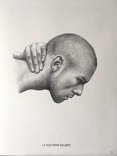 Yves Helbert, doctrine secrète, graphite sur papier, 30x40cm