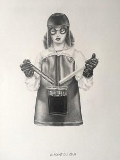 Yves Helbert, Le Point du Jour, graphite sur papier, 30x40cm