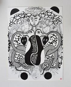 Furiosa, , encre de Chine sur papier, 2019