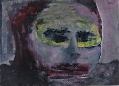 Olivier Furter, Mensch IV,  2019, huile sur papier, 50 x 70 cm
