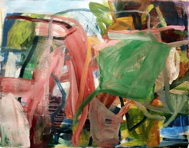 Pascale Cléa, Cheminement, 2017, 87x69 cm, acrylique sur toile