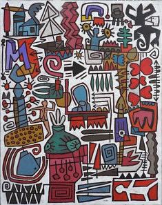 Christian MOUREY, VAGABONDAGE 146X114 cm Acrylique sur toile