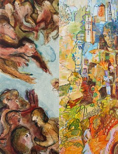 FredElys, peinture à 4 mains