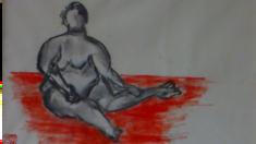 Jean Paul Bucher, pastel sur papier