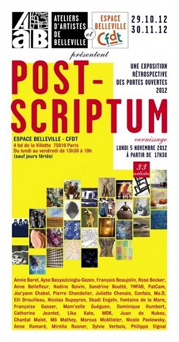 Post-Scriptum, invitation