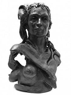 Amazone des petites sauterelles ou hommage à Arundhati Roy, 2004, H : 59 cm