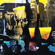 Série Digital Street Wall, DSW - II, technique mixte sur toile, 60x60x5cm, 2019