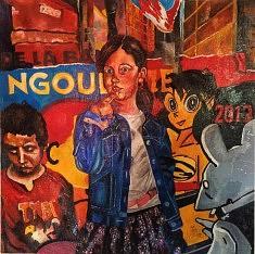 AMFL, technique mixte et huile sur toile, 100x100 cm, 2013