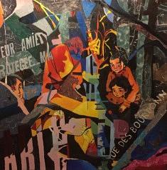 Série Anges et démons, N3, technique mixte sur toile, 100x100x5cm, 2018