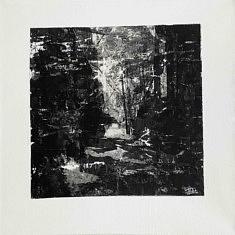 Série Empreintes EM7 - Mémoire, technique mixte sur toile, 40x40x10cm, 2020
