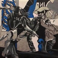 Série : URDA, acrylique sur toile, 20x20x5 cm, 2017