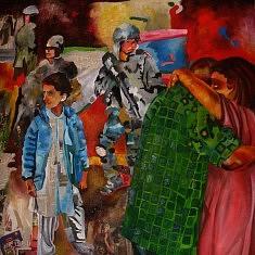Série Danse, IV, huile sur toile et technique mixte, cm.100x100, 2013.