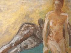 """Etreinte"" Acrylique - 2008      146x112 cm"
