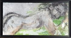 """Corps vert""  Technique mixte - 2008      80x40 cm"