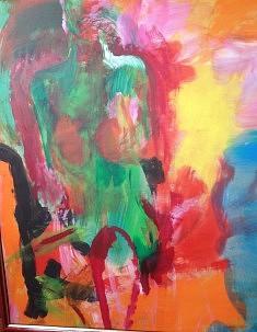 NU VERT, Acrylique sur bois, 69*83