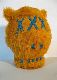 Dude - fourrure synthétique, fil de laine - env. 15 cm de haut - - - - - - - - - - - - - -