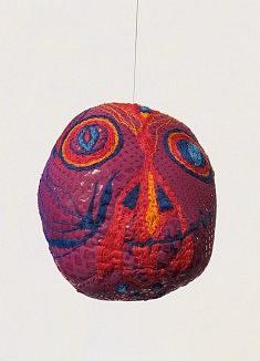 Paillettes Aztèques - textile synthétique, fil de coton, fil de laine - env. 12 cm de haut
