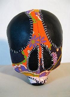 Polka - textiles mixtes, fil de coton - env. 12 cm de haut - - - - - - - - - - - - - -