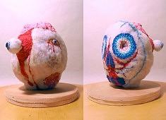 Purée Pure - ouate, fil de coton, fil de laine - env. 30 cm de haut - - - - - - - - - - -