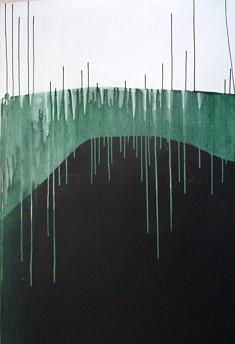 """Série """"couleurs et coulures"""", 122X82 cm peinture sur carton"""