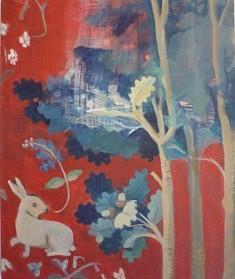 """""""A mon seul désir, lapin"""", peinture sur toile."""