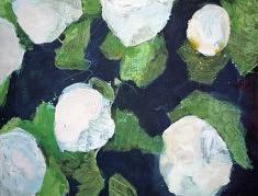 """Série """"mes fleurs 3"""", peinture sur papier, 65x55 cm."""