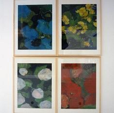 Assemblage 4 fleurs, (4 sous-verres)